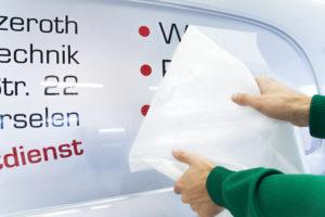 Fahrzeugbeschriftung individuell gestalten